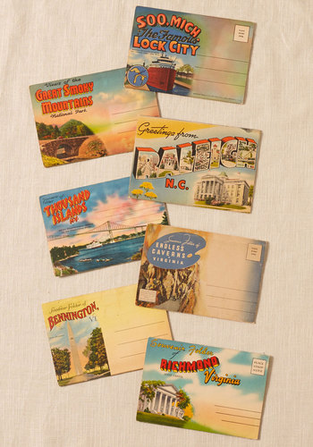 Vintage East Your Eyes Postcard Set