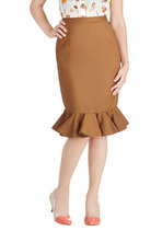 Go for Folk Skirt in Brown