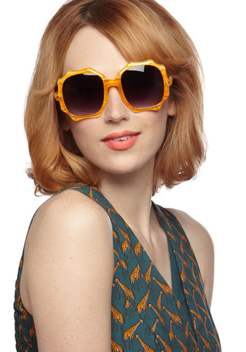 Bamboo Shoot the Breeze Sunglasses - Orange, Solid, Statement, Summer
