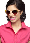 We Got the Bistro Sunglasses - Yellow, Summer, Orange, Solid, Stripes