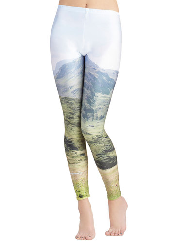 Valley Forth Leggings - Multi, Novelty Print, Casual, Skinny, International Designer