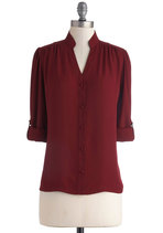 The Grand Tour Guide Top in Plum