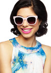 Only Takes a Sparkle Sunglasses - Pink, Black, Solid, Glitter, Beach/Resort, Statement, Summer