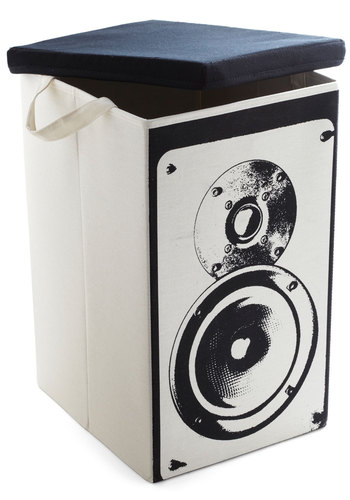 And Den There Was Fun Container in Speaker - Cream, Black, Dorm Decor, Good