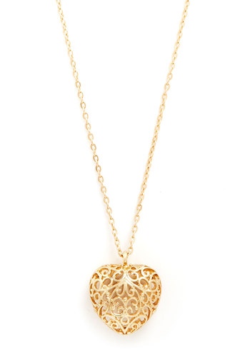 Infinite Love Necklace - Gold, Solid, Cutout, Novelty Print, Gold, Valentine's, Graduation