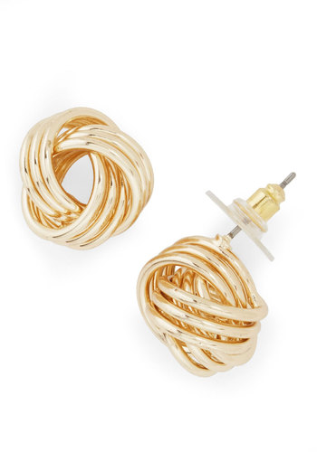 Oh Why Knot? Earrings - Gold, Solid, Braided