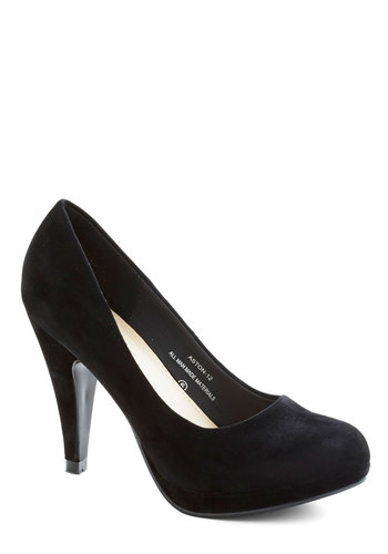 Professional Prerequisite Heel - Black, Solid, Work, High, Party, Minimal