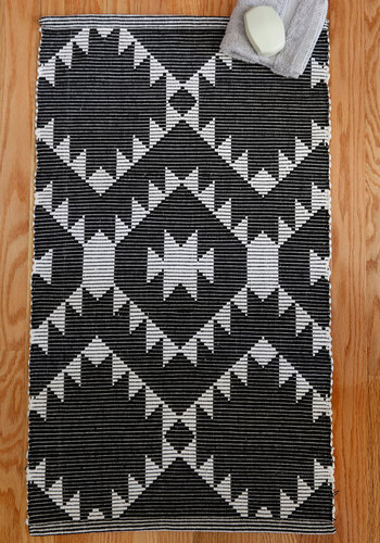 Scenic Setting Bath Mat - Cotton, Black, White, Print, Better