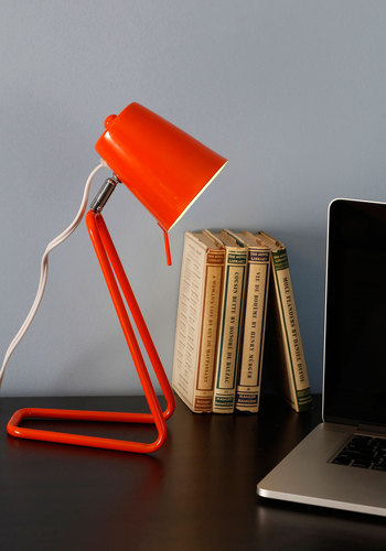 Guiding Spotlight Desk Lamp by Present Time - Orange, Mod, Mid-Century, Solid, Dorm Decor, Urban, Better