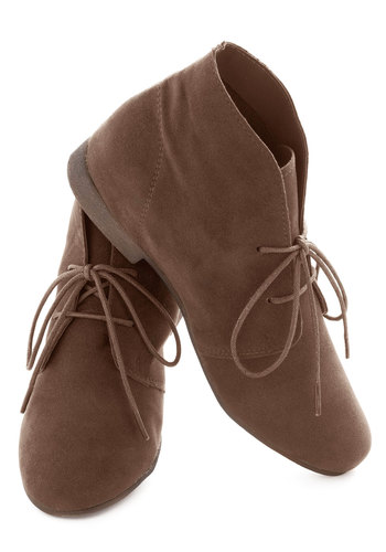 Dashing to Bootie in Deep Taupe - Grey, Solid, Flat, Menswear Inspired, Rustic, Variation, Winter, Basic, Fall
