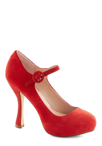 Headliner Over Heels by Dolce Vita - Red, Solid, High, Mary Jane, Leather, Wedding, Party, Holiday Party