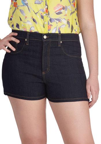 Tandem Tour Shorts in Dark Wash - Plus Size