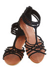 Couldn't Be Strappier Sandal - Black, Solid, Summer, Flat, Casual