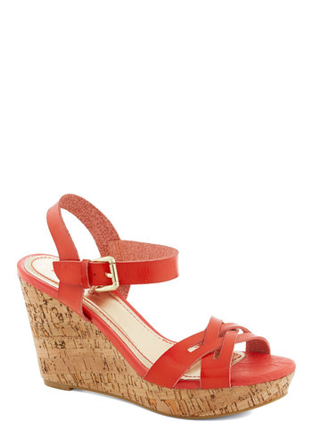 Wedge Allegiance - Coral, Solid, High, Platform, Wedge, Summer
