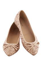 Shoes - Go for the Rose Gold Flat
