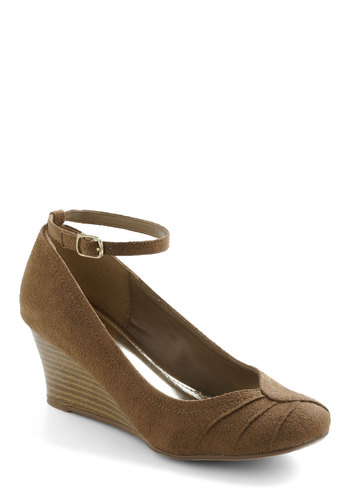 Beets Me Wedge In Brown Sugar - Grey, Solid, Wedge, Mid, Work, Casual