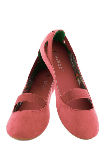 Playful Pliés Flat in Pink - Solid, Flat, Pink, Casual, Variation, Top Rated