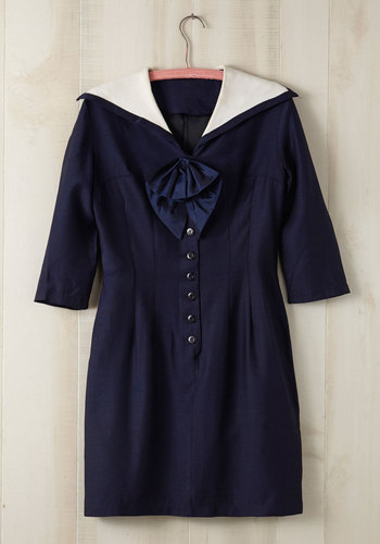 Vintage It's All Navy, Baby Dress in Plus Size