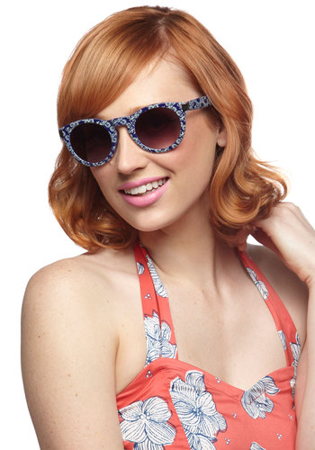 Vista Views Sunglasses - Blue, Floral, Beach/Resort, Summer