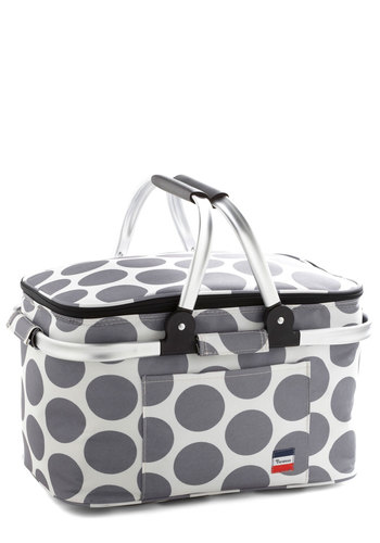 The Perfect Dot Picnic Bag - Grey, White, Polka Dots, Travel, Summer