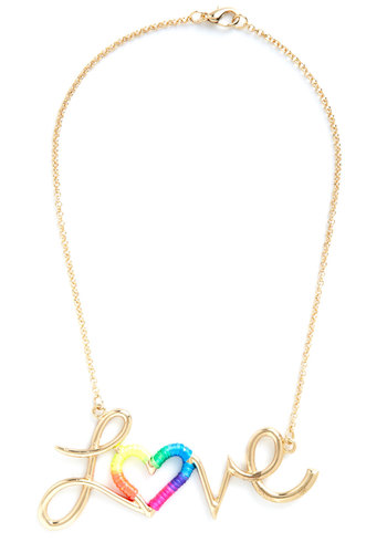 Luster is All You Need Necklace - Solid, Gold, Multi, Ombre