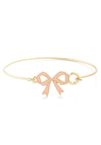 Sweet Style Spotlight Bracelet - Pink, Gold, Solid, Bows, Fairytale, Pastel