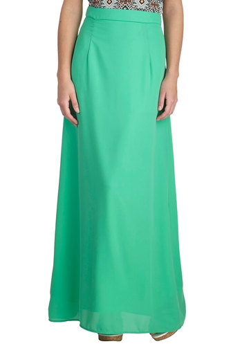 Brighten the Night Skirt in Mint