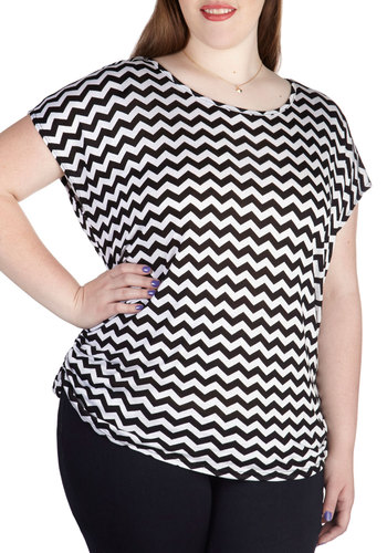 Fly Frequency Top in Black - Plus Size