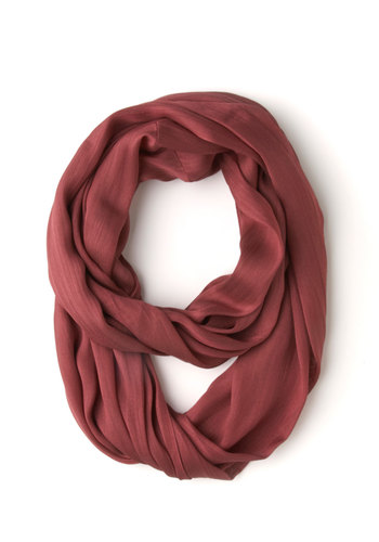 Brighten Up Circle Scarf in Berry - Red, Solid, Casual, Variation, Minimal, Basic, Fall, Winter