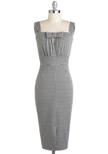 Nifty Newsprint Dress