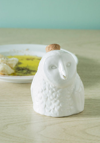 E.V.O.Owl Cruet by IMM Living - White, Owls, Solid, Good, Halloween, Hostess
