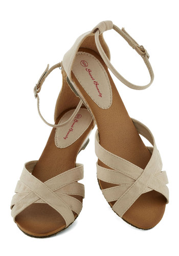Gondola with the Wind Sandal in Tan - Tan, Solid, Daytime Party, Low, Wedge, Variation, Cutout, Casual, Vintage Inspired, Spring, Summer