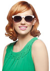I Candy See Clearly Sunglasses - White, Multi, Polka Dots, Beach/Resort, Summer