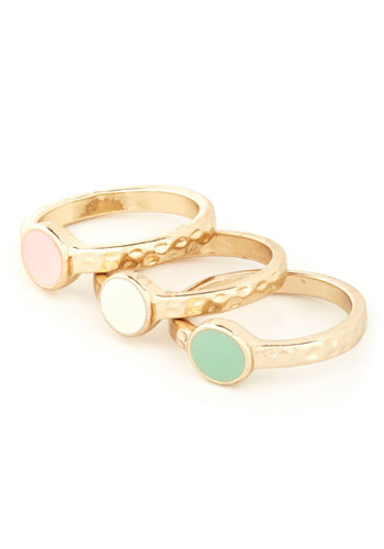 Roundup the Fun Rings - Solid, Pastel, Pink, White, Mint, Gold