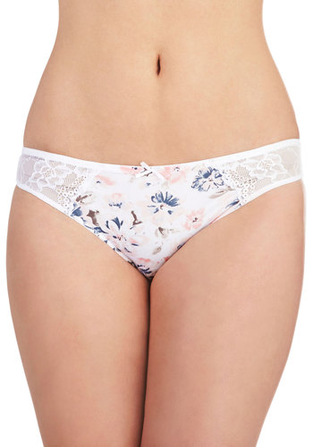 Ethereal Introduction Undies - White, Blue, Pink, Floral, Bows, Lace, Pastel, Sheer
