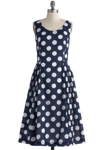 Classy Reunion Dress in Dots