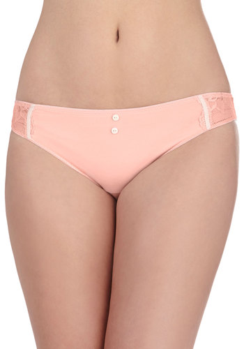 Essence of the Noblesse Undies - Coral, Solid, Lace, Pastel, Buttons