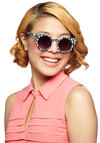 Trendspotting Sunglasses - Black, White, Polka Dots, Press Placement