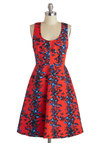 Plenty by Tracy Reese Saturated in Style Dress in Berry by Plenty by Tracy Reese - Long, Red, Blue, Floral, Party, A-line, Tank top (2 thick straps), Scoop, Spring, Summer
