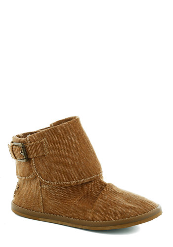 Trail Mixologist Bootie - Tan, Buckles, Flat, Good, Solid, Casual, Basic, Fall