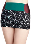 Picturesque Poolside Swimsuit Bottom by Seea - Multi, Red, Green, Black, White, Polka Dots, Beach/Resort, High Waist, Summer