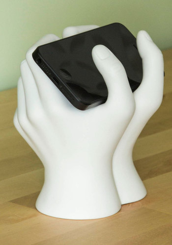 The Text of Time Phone Stand - White, Quirky, Solid, Good