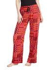 Patchwork and Play Lounge Pants by Kensie - Pink, Multi, Print, Boho, Orange