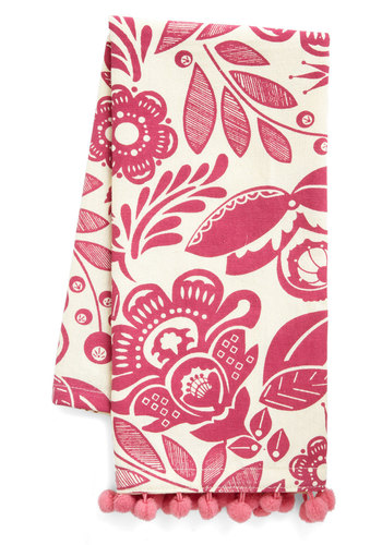 Movers and Bakers Tea Towel - Cotton, Pink, Yellow, Tan / Cream, Floral, Good
