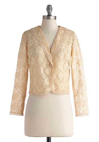 Vintage Meringue the Doorbell Cardigan