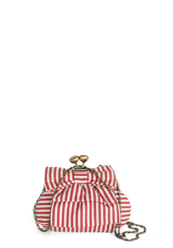 It's the Little Things Bag - Red, Gold, Stripes, Bows, Nautical, White