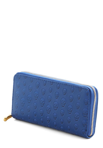 Tons of Funds Wallet - Blue, Solid, Novelty Print, Faux Leather