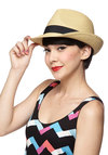 Creekside A Cappella Hat - Tan, Black, Solid, Casual, Beach/Resort, Menswear Inspired, Summer