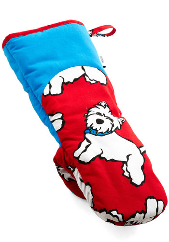 East, Westie, Home's Best Oven Mitt - Cotton, Red, Print with Animals, Blue, White, Good