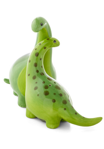 Brunch-osaurus Shaker Set by One Hundred 80 Degrees - Green, Print with Animals, Good, Wedding, Under $20, Hostess